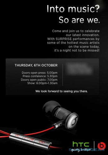 HTC Beats Audio Oct 6th