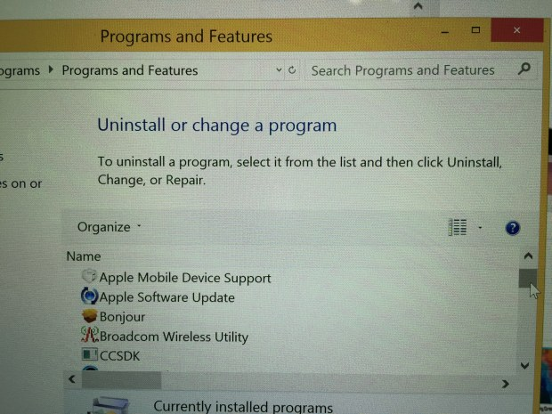 Make sure that Apple Mobile Device Support is installed.
