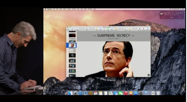OS X Yosemite includes many new features.