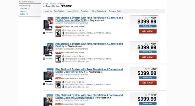 PS4 Camera GameStop Bundle