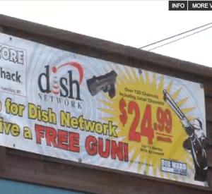 RadioShack Free Gun Dish Satellite
