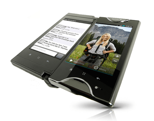 Kyocera Echo Half Open Tablet Mode