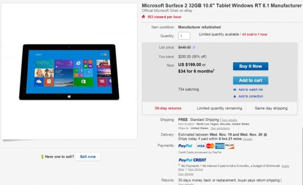 Surface 2 EBay Deal