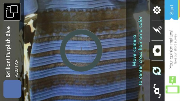Color ID app picks the real color of the dress.