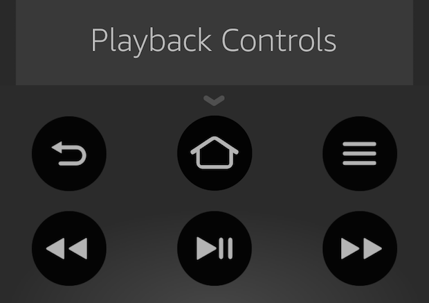 fire tv app playback control buttons