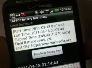 HTC ThunderBolt Battery Life