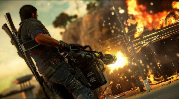 A screenshot from Just Cause 3 from Flickr.