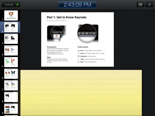 Keynote for ipad