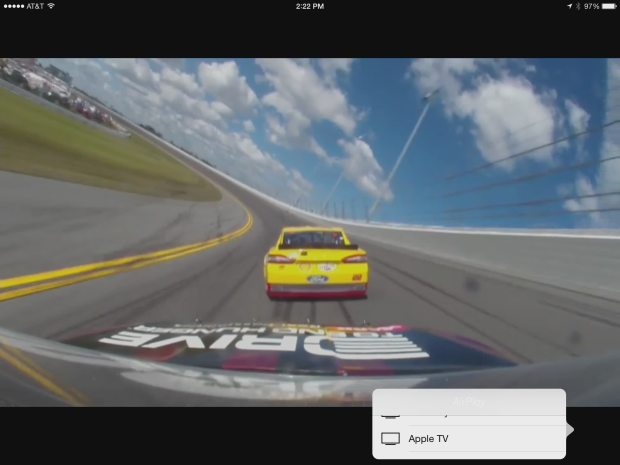 nascar mobile airplay