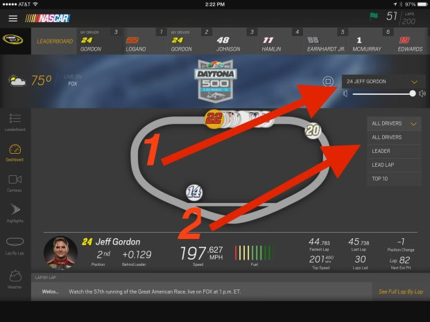 nascar mobile audio and car filter