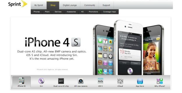 Sprint iPhone 4S