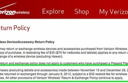verizon holiday return policy