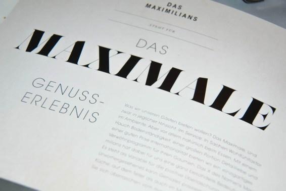 Das Maximilians - Die Speisenkarte