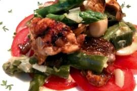 Scharf gebratenes Hühnchen auf Bohnen-Spargel-Ragout |GourmetGuerilla.de