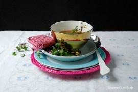 Rote-Beete-Kokosuppe mit Thai-Pesto #rezept #gourmetguerilla