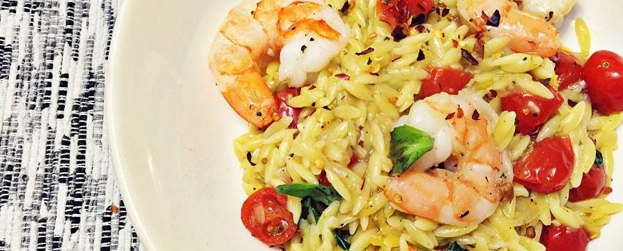 One-Pot Shrimp and Tomato Orzo