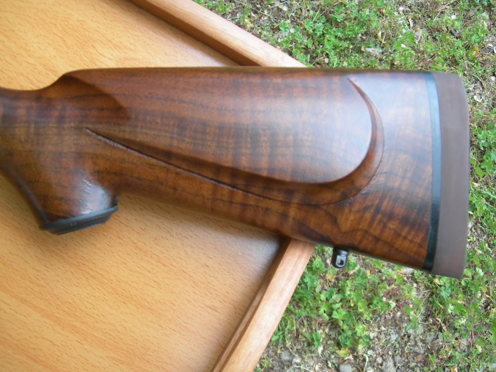 Custom .257 Roberts rifle AA claro & Pachmar pad