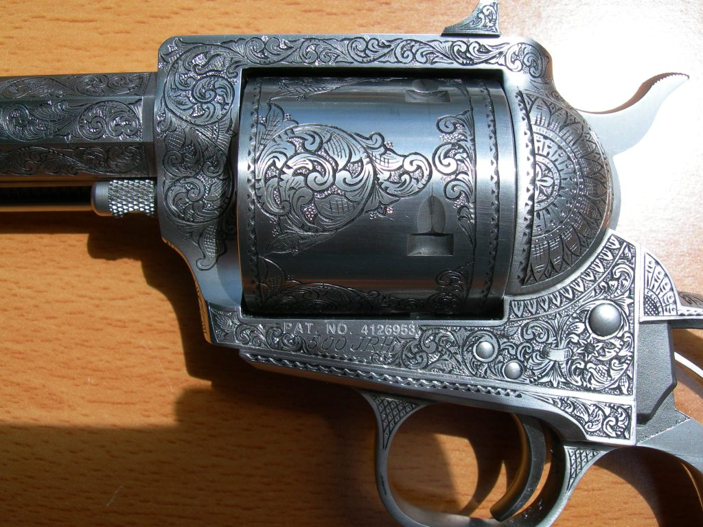 Detail cylinder - big bore revolver engraving