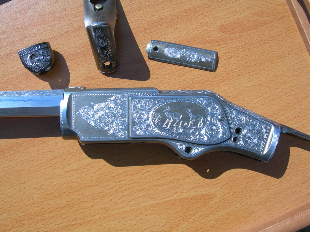 Engraved 73 Winchester
