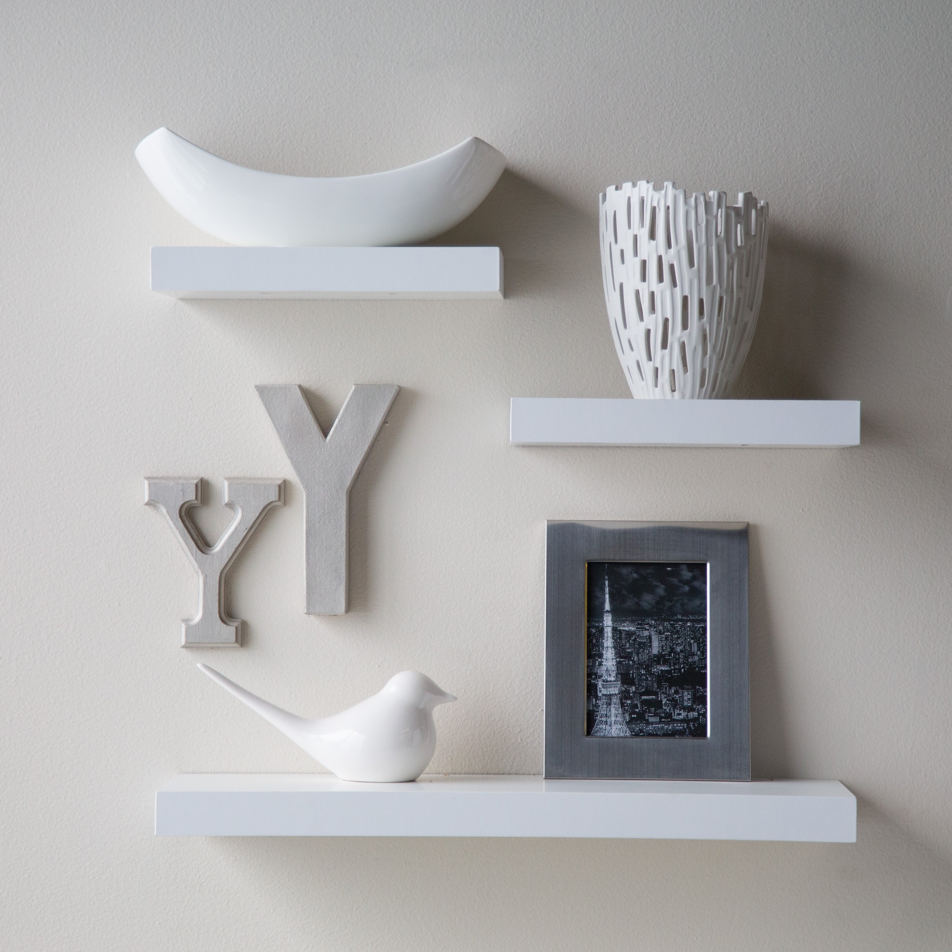 Fullsize Of Floating White Wall Shelves