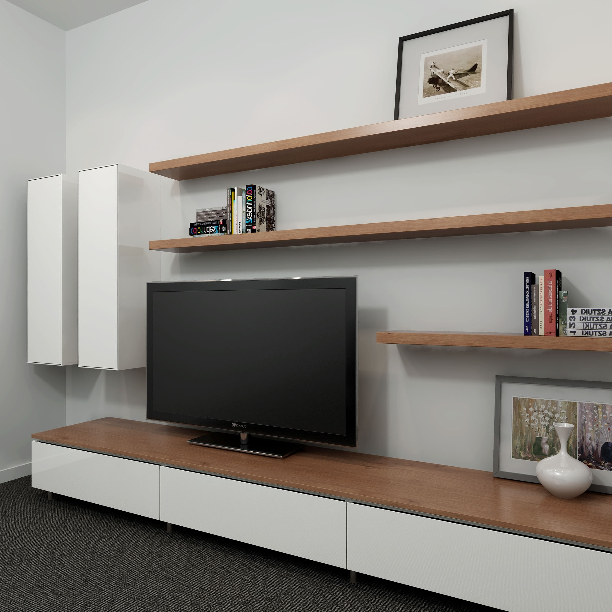 Top Well Liked Wall Unit Design Tv Cabinet Shelves Units Ideas Long Black Withintended Long Wall Shelves Canada Very Long Wall Shelves Bookshelves View Photos Bookshelves Tv Unit interior Wall Long Shelves