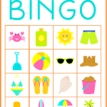 Summer Bingo – Free Printable