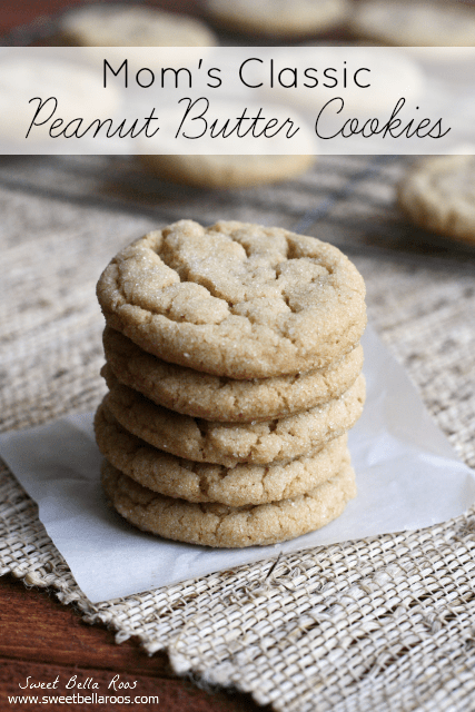 Classic Peanut Butter Cookies just like Mom used to make #recipe #cookies