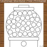 Gumball Machine Do-A-Dot Free Printable