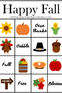 Happy Fall Bingo Cards