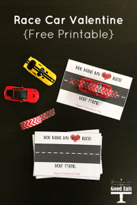Race Car Valentine Cards: Free Printable