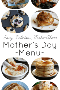 Mother's Day Menu Ideas- everything from make-ahead casseroles, pancakes, French toast, and egg recipes that would be perfect for breakfast in bed or a beautiful brunch