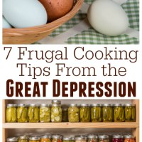 7 Frugal 烹饪技巧from The Great Depression