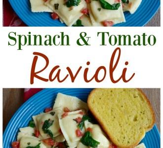 Spinach and Tomato Ravioli