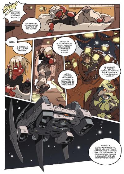 Pagina 12 del manga LOS MUNDOS DE VALKEN, un cómic de Nacho Fernandez