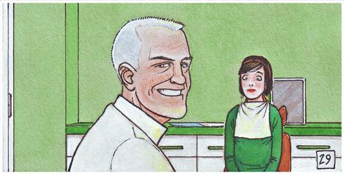 Herbert-Dunne-comic-dentist-grafito
