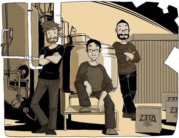 Ese es el equipo de ZETA BEER, tienes que probar sus cervezas, están super ricas