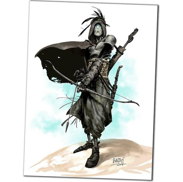 Fernando baldó y diego Agrimbau son los autores del cómic DESIERTO DE METAL. Esta lámina se regala con el cómic