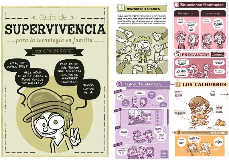 Historia extra desplegable dibujada por Carles Ponsí que se regala con su último cómic SOCORRO MI MADRE TIENE FACEBOOK
