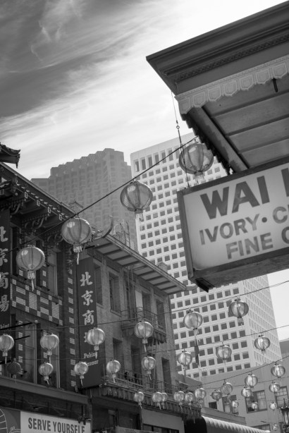 Chinatown in Black and White with A7R and Canon FL lens