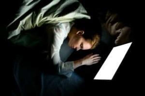 Sleeping on a laptop