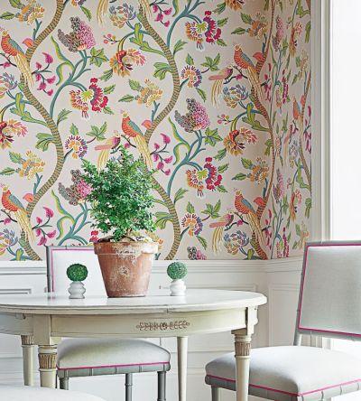 Janta Bazaar - Flax wallpaper   Caravan   Thibaut