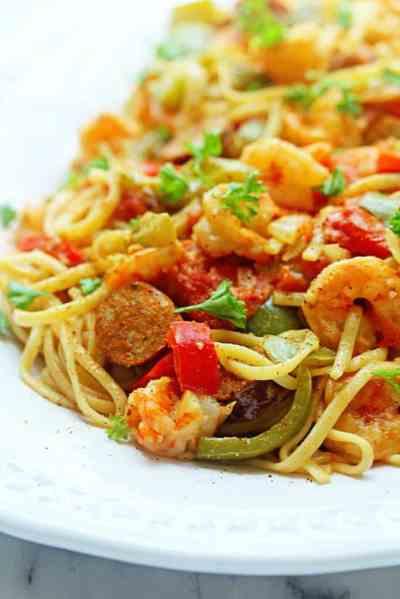 Cajun Shrimp Pasta Recipe - Grandbaby Cakes