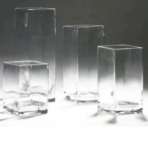 Medium Of Square Glass Vases