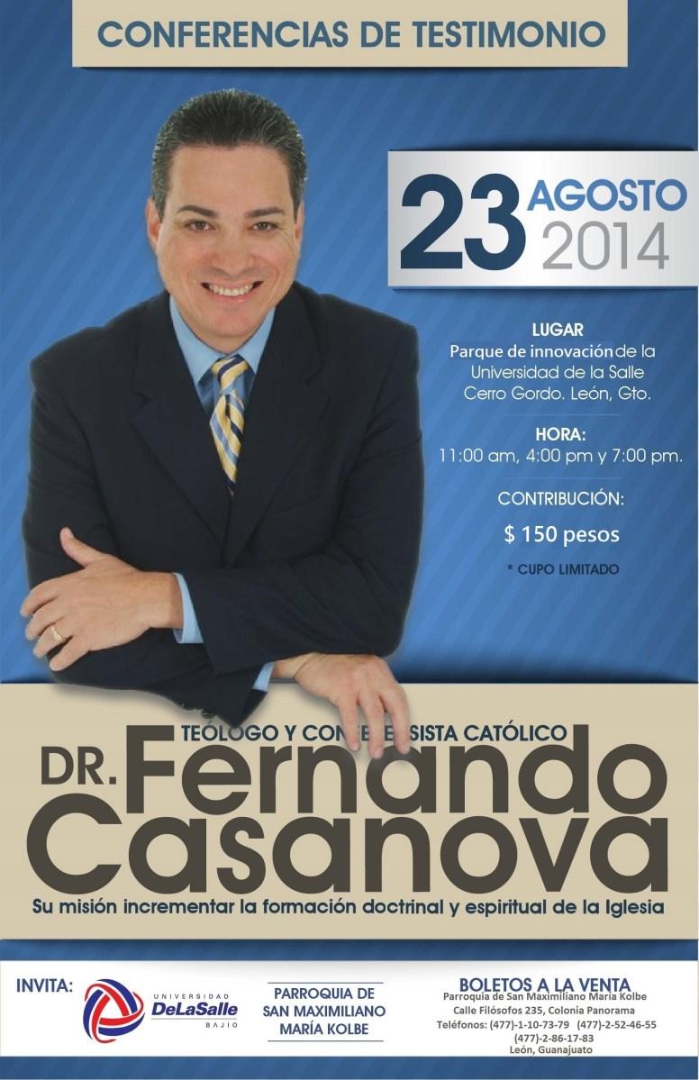 FERNANDO CASANOVA EN LEON GUANAJUATO, TESTIMONIO DEL DR. EN TEOLOGÍA
