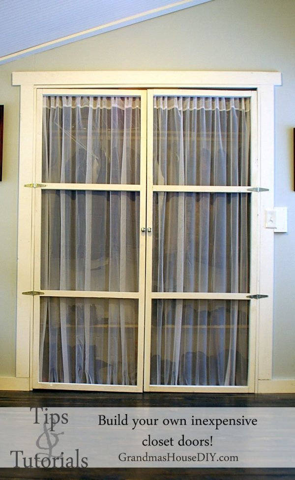 Country Mouse City Spouse Monday Mish Mash Link Party #32 Feature- How To: Build Your Own Inexpensive Closet Doors @ Grandma's House DIY