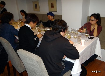Both the white wine and red wine judges tasted 20 wines each, with five flights of four wines.