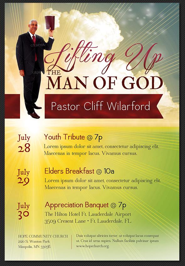 Pastor Appreciation Flyer Templates | Inspiks Market