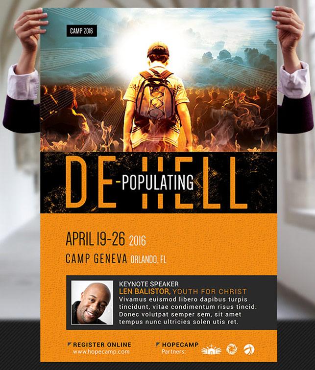 Church crusade flyer templatesmberpro church crusade flyer youth camp church flyer and poster template stopboris Images