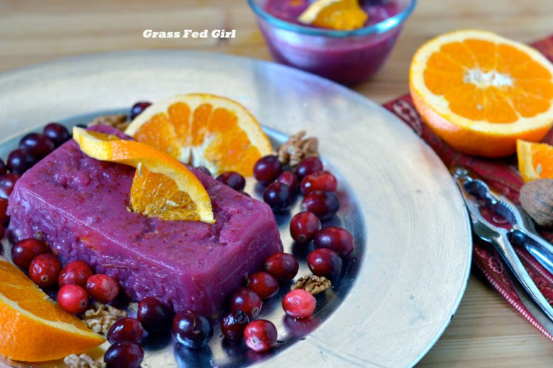Paleo Cranberry Jell-O Salad with Walnuts