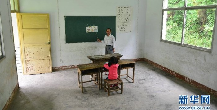 School in China with only one student
